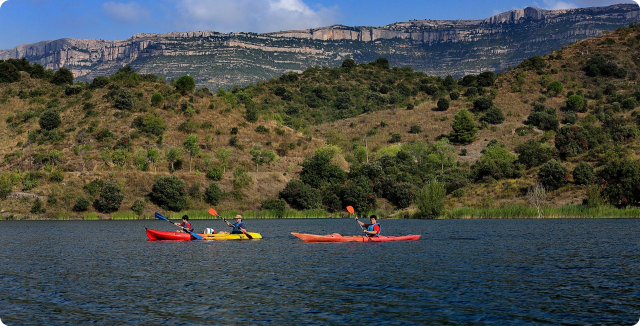 Kayak to the reservoir of Siurana