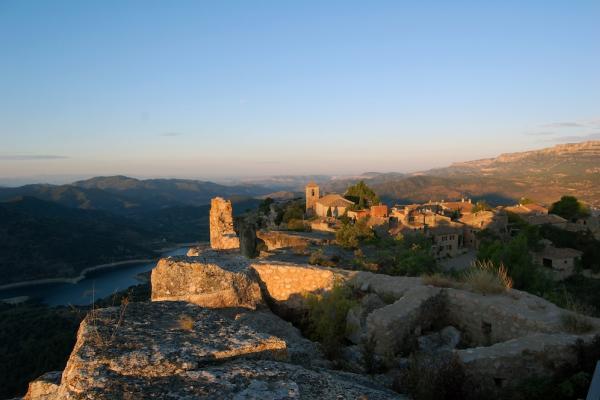 Vistes del Poble de Siurana des del Castell.